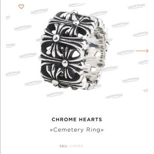 Chrome hearts cemetery ring